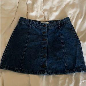Forever 21 mini denim skirt